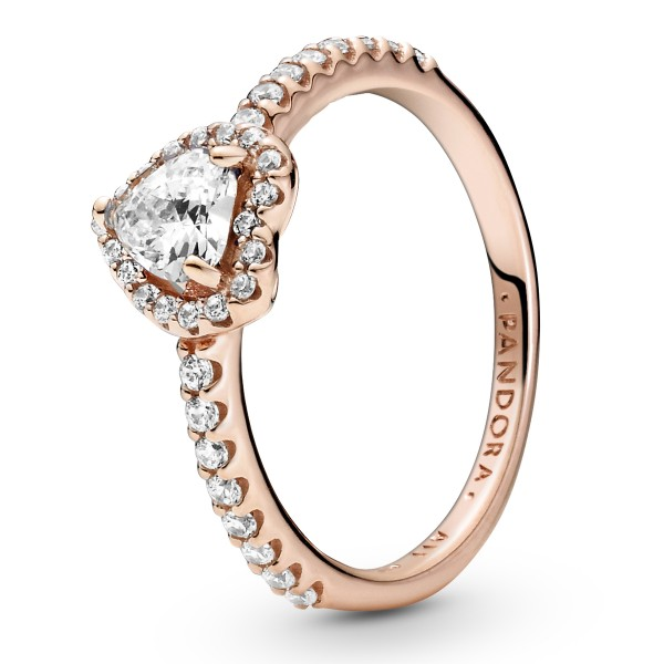 Funkelndes erhabenes Herz PANDORA ROSE Ring 188421C02