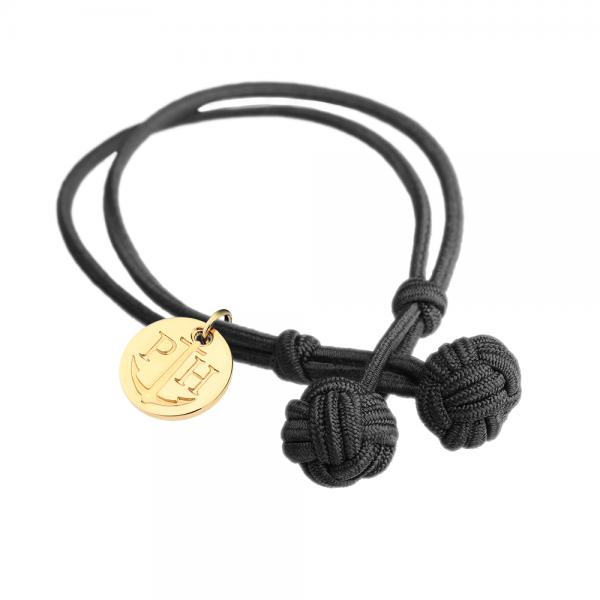 PAUL HEWITT Gold Knotenarmband Schwarz PH-BK-B-S-G