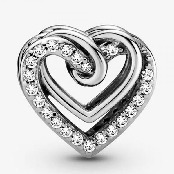 Funkelnde Verschlungene Herzen PANDORA Charm 799270C01