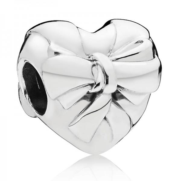 PANDORA Charm Brilliant Heart Bow 797303