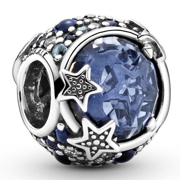 Himmlische blaue funkelnde Sterne PANDORA Charm 799209C01