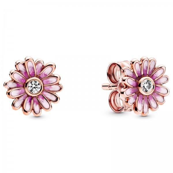 Rosafarbene Gänseblümchen PANDORA Ohrringe 288773C01