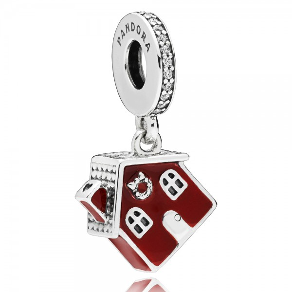 Weihnacht Haus PANDORA Charm-Anhänger Christmas house silver dangle 797517EN27