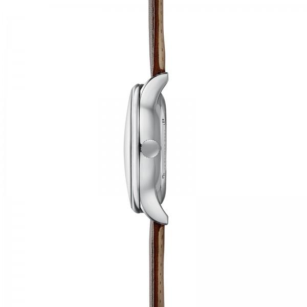 KANTON silber-satiniert Swiss Made STERNGLAS Zeitmesser Modena braun SKT41/702