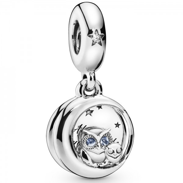 Always by Your Side Owl PANDORA Charm-Anhänger 798398NBCB
