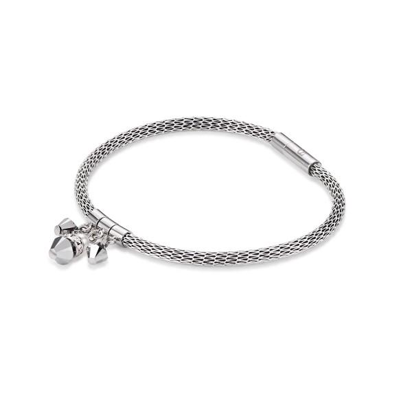 Coeur De Lion Armband Tropfen Swarovski® Kristalle & Crystal Pearl & Mesh silber 4825311700