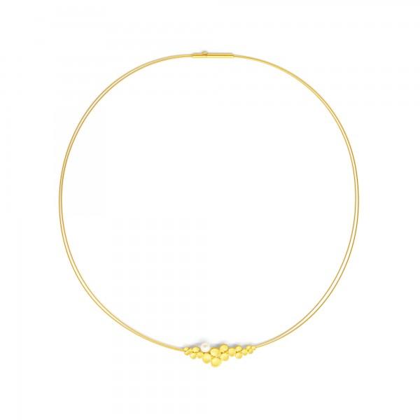 84152656 Lentje Designlinie Flowertimes Collier mit schimmernder Süsswasserperle und 24 Karat Gold