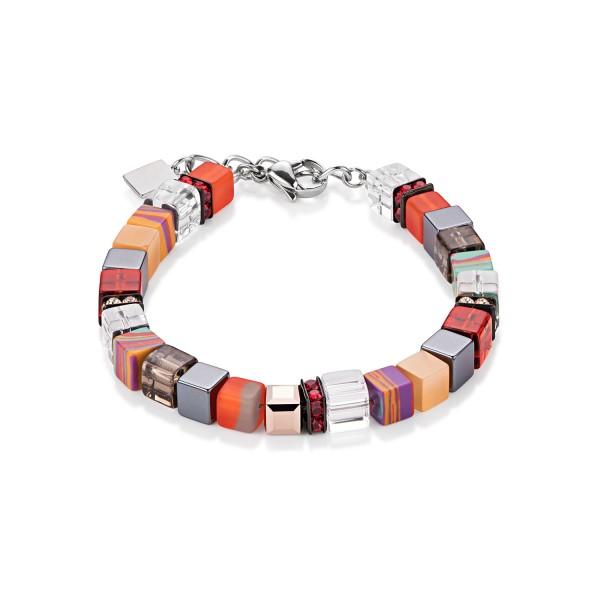 Coeur De Lion Geo Cube Armband rot-orange 4670300302