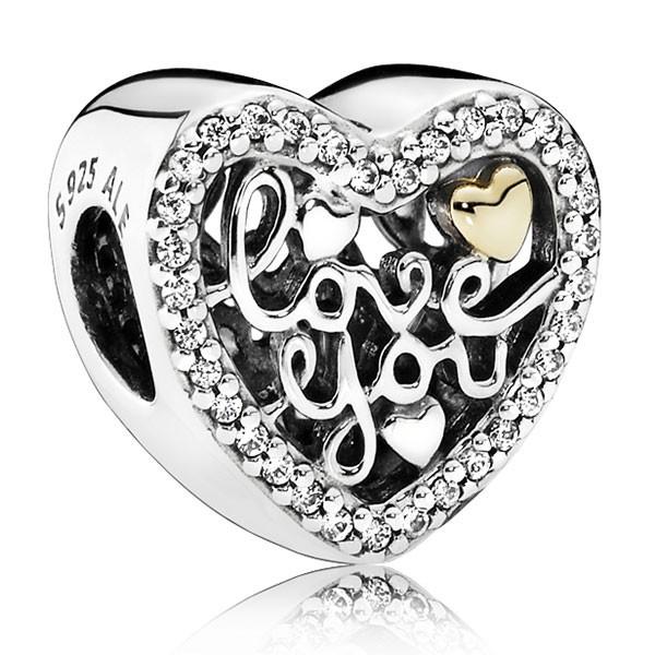 PANDORA Charm Love You 792037CZ