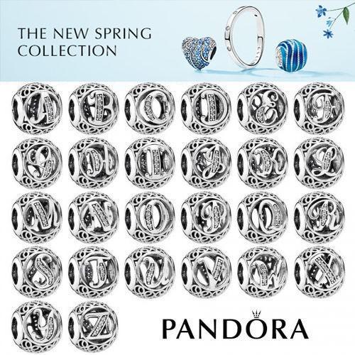 PANDORA Charms Vintage Buchstaben A bis Z in 925er Silber