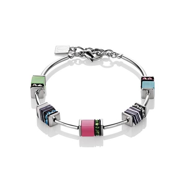 Coeur De Lion Geo Cube Armband Malachit multicolor pastell 4794301522