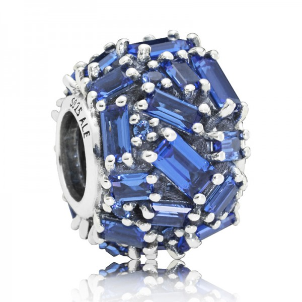 Eiswuerfel PANDORA Charm Ice cube silber with sea blue crystal 797746NSBL