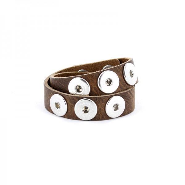 Noosa Armband braun doppelt gewickelt WDS-060-02-22