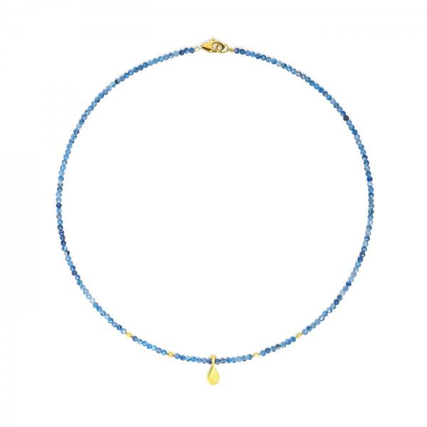 84116796 Aquinesa Designlinie Aqua Halskette und 24 Karat Goldplattierung