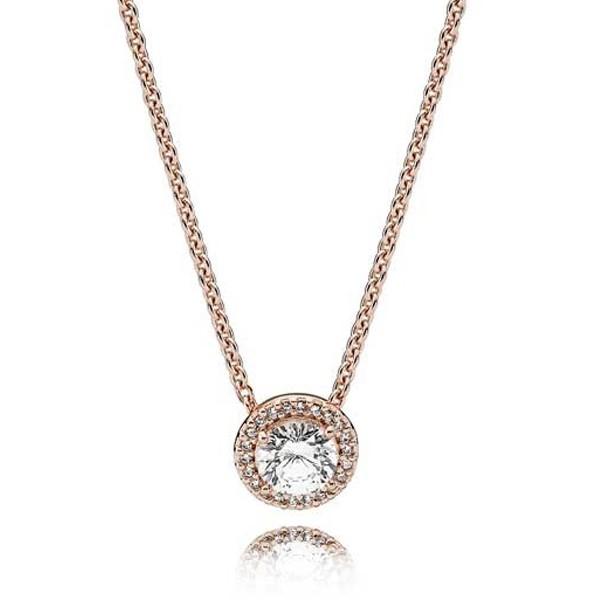 PANDORA ROSE Halskette Klassische Eleganz 386240CZ