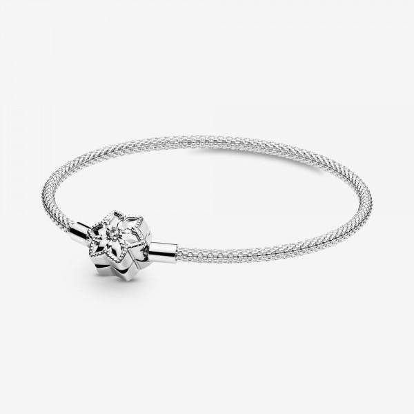 Pandora Moments Bright Snowflake Mesh Bracelet PANDORA Armband 598616C01