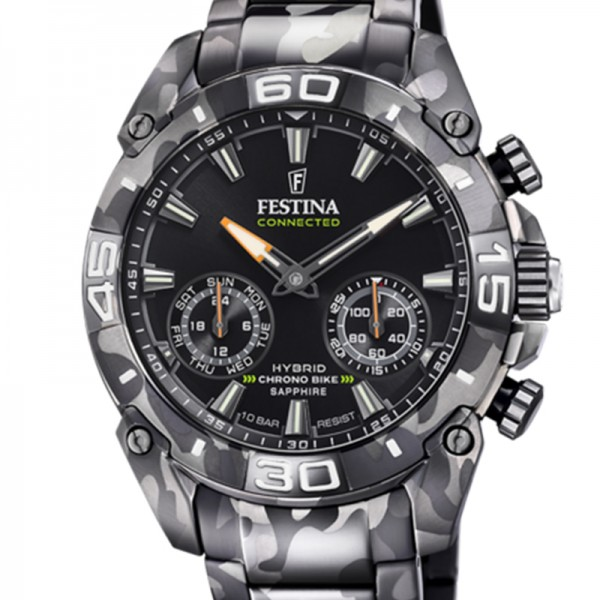 F20545/1 FESTINA Connected 2021 Schwarz Stahlband