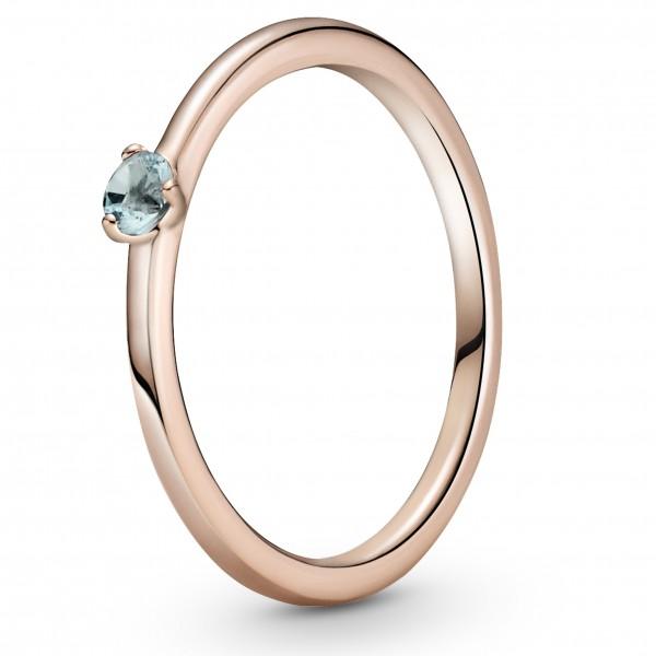 Hellblauer PANDORA Solitär-Ring 189259C02-50