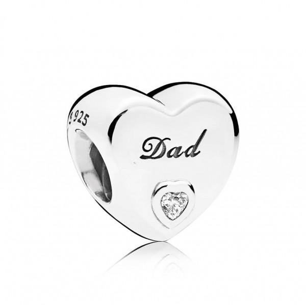 PANDORA Charm Dad-Herz 796458CZ