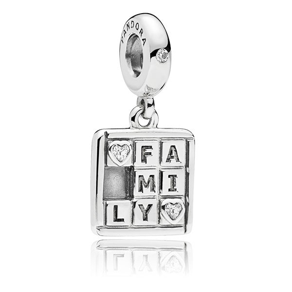 PANDORA Charm-Anhänger Family silver dangle 797626CZ