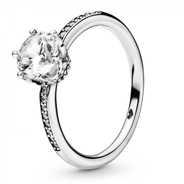 Clear Sparkling Crown PANDORA Ring 198289CZ