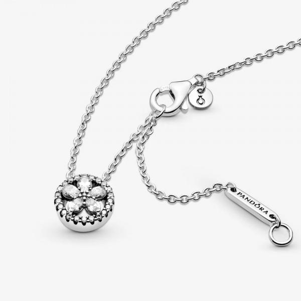 Funkelnde Schneeflocke PANDORA Collier-Halskette 399230C01-45