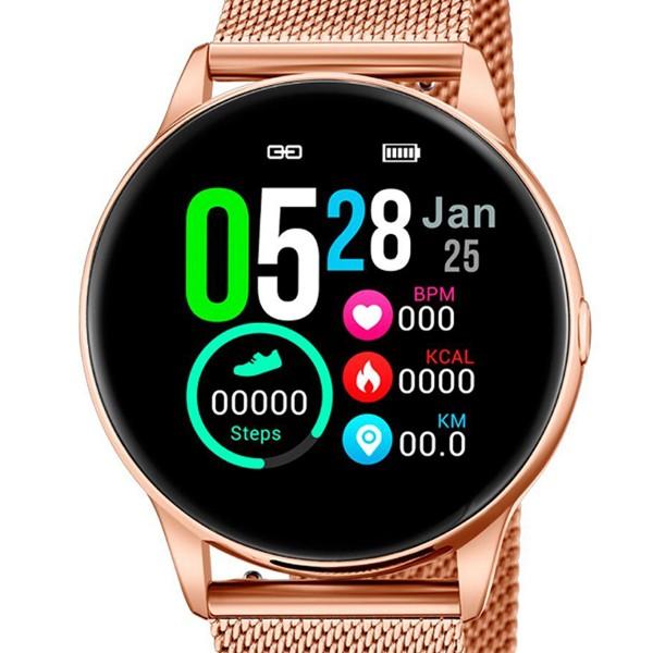 Lotus Smarttime 50001/1 Smartwatch mit Wechselband aus weichem Silikon und Ladekabel