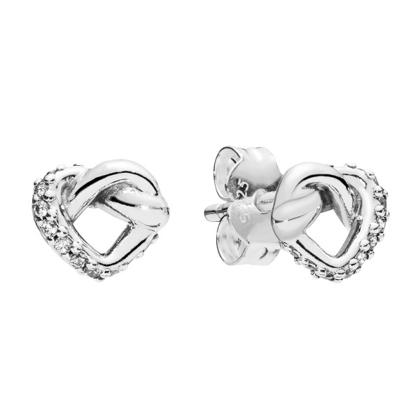 Knotted Hearts earring studs PANDORA Ohrstecker 298019CZ