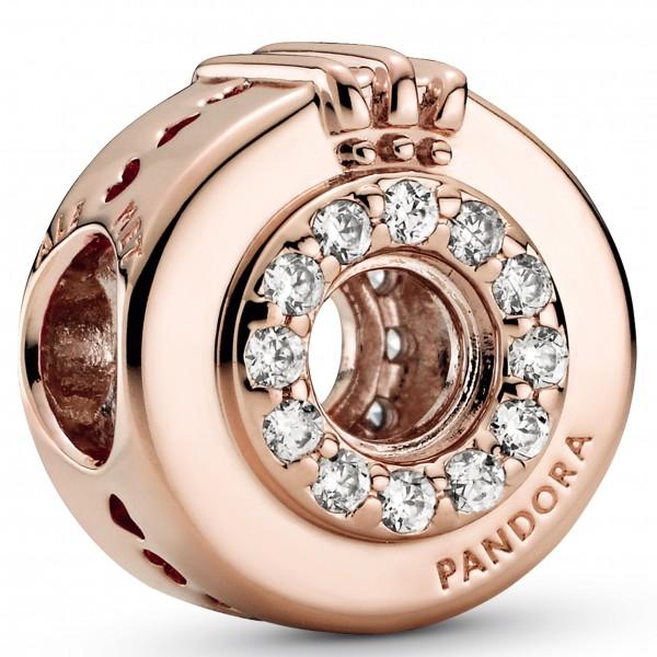 Offenes Pavé Crown O PANDORA ROSE Charm 789059C01