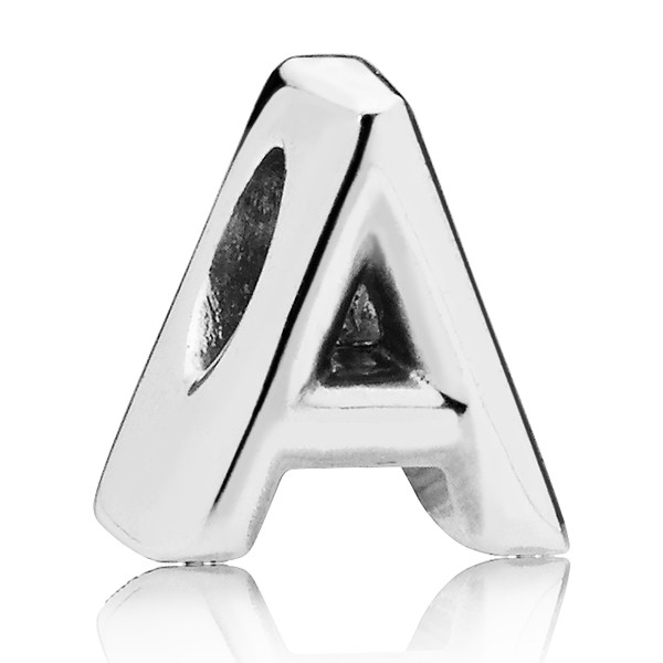 PANDORA Buchstabe Letter A silver charm 797455