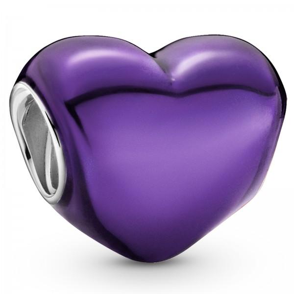 Violettes Metallic-Herz PANDORA Charm 799291C01