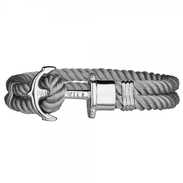 PAUL HEWITT PHREP Silber Anker Nylon Armband Grau PH-PH-N-S-Gr-S