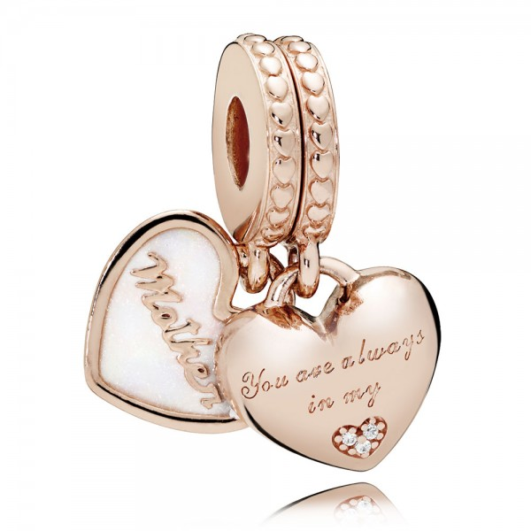 PANDORA Charm-Anhänger Mother und Daughter Hearts 782072EN23