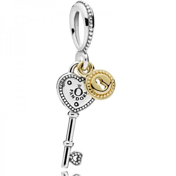 PANDORA Charm-Anhänger Schlüssel zu meinem Herzen 796593