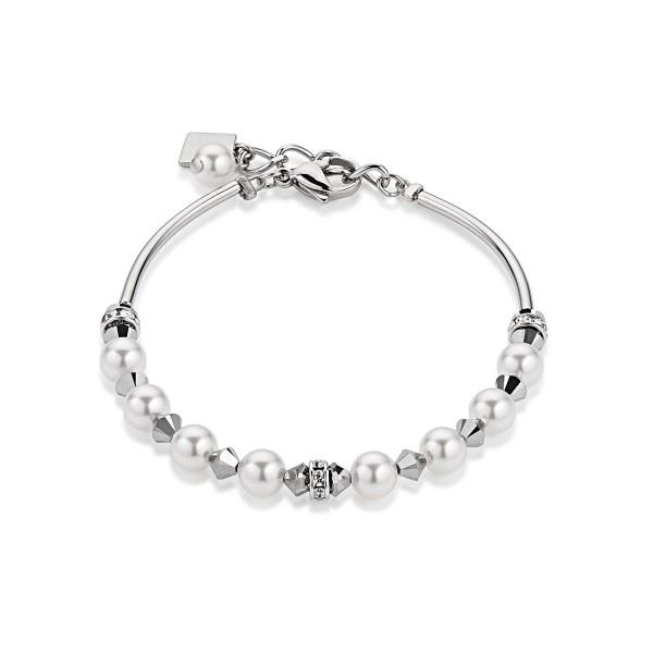 Coeur De Lion Armband Swarovski® Kristalle & Crystal Pearls silber 4828301700