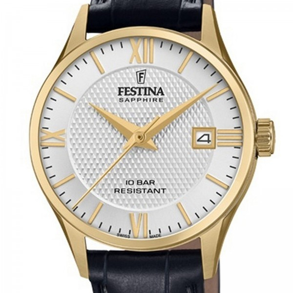 Festina Swiss Made Saphire Collection Swiss Made Damenuhr in Silber F200011/1