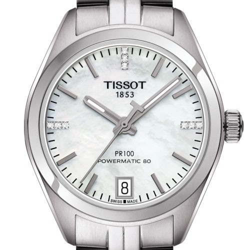 TISSOT PR 100 POWERMATIC 80 LADY T1012071111600 - T101.207.11.116.00