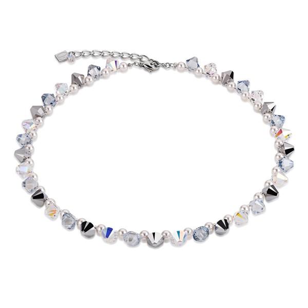 Collier Big Swarovski® Kristalle & Crystal Pearls by Swarovski® kristall-silber 4873101817