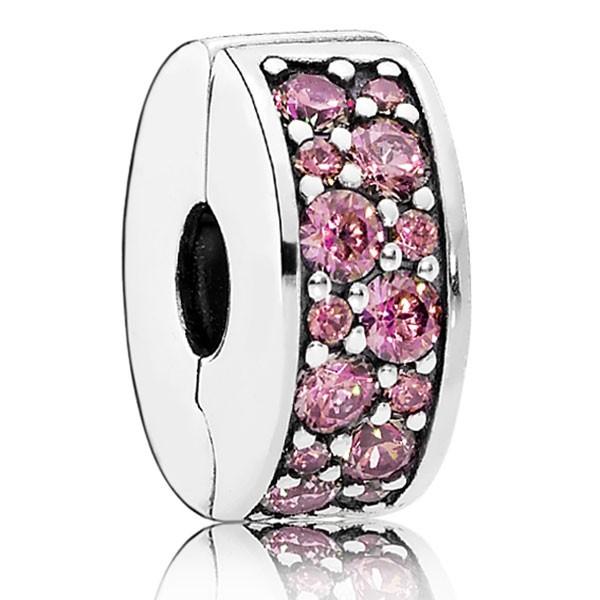 PANDORA Charm Pinkfarbener Pavé-Glanz 791817HCZ