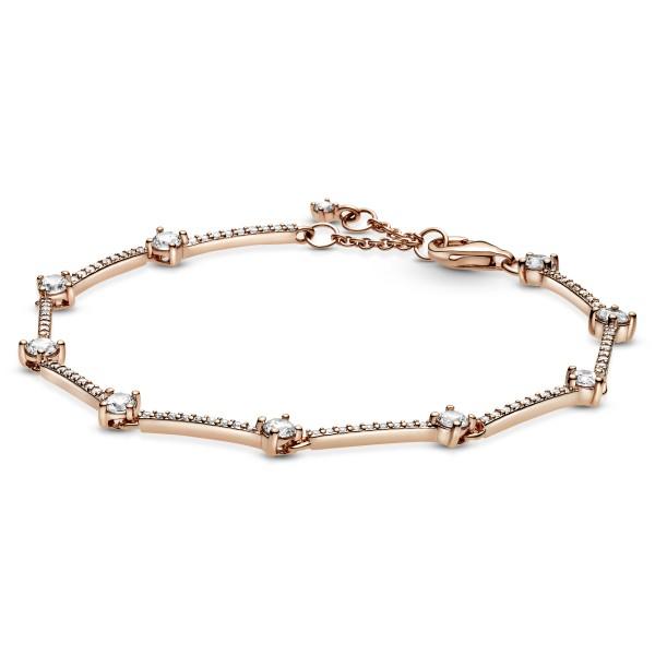 Funkelnde Pavé-Stäbe PANDORA Armband 589217C01
