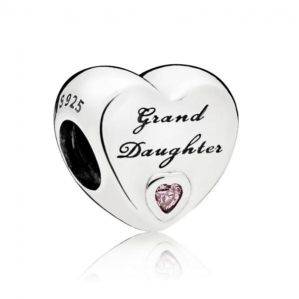 PANDORA Charm Grand Daughter-Herz 796261PCZ