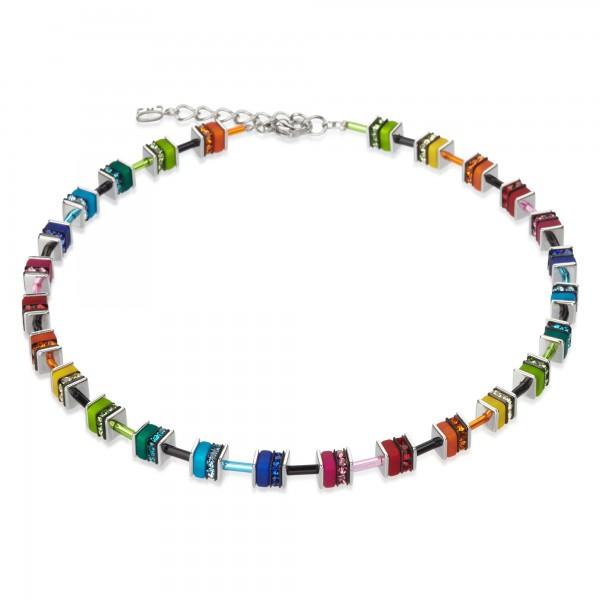 Coeur De Lion Geo Cube Collier multicolor small Swarovski® Kristall 4409101500