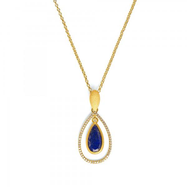 85350236 Venezia Designlinie Aqua mit elegant leuchtendem Lapislazuli und 24 Karat Goldplattierung