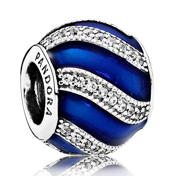 PANDORA Charm Weihnachtsornament blau 791991EN118